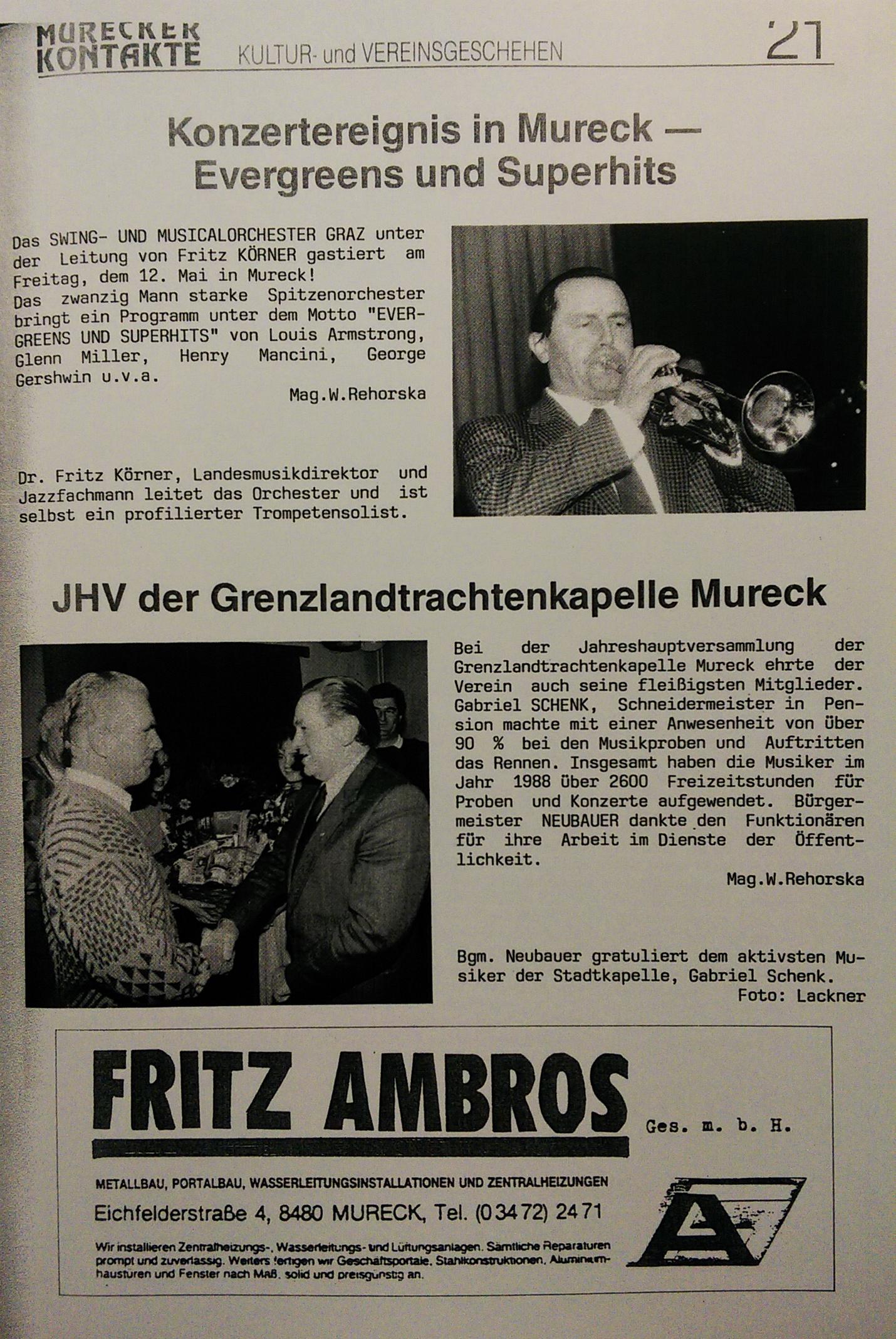 1989 Murecker Kontakte JHV