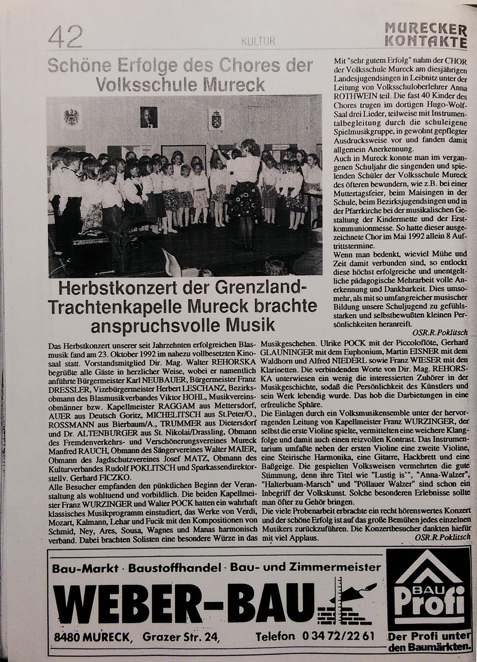 1992 Murecker Kontakte